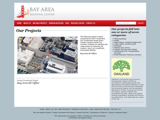 Bay Area Regional Center screenshot