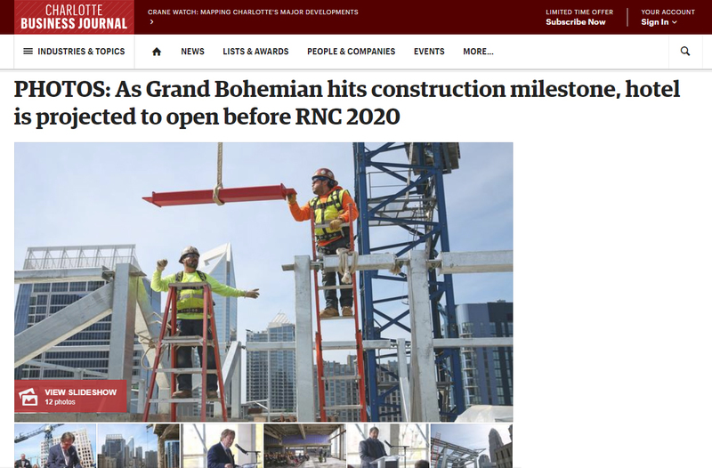 As Grand Bohemian hits construction milestone, hotel is projected to