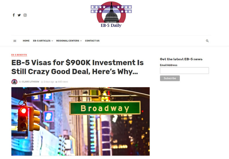 Eb 5 Visas For 900k Investment Is Still Crazy Good Deal Here S Why