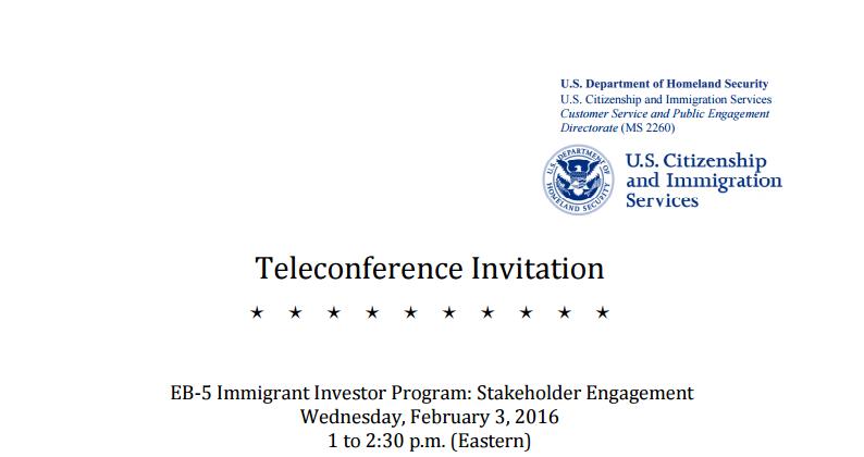USCIS Teleconference Invitation