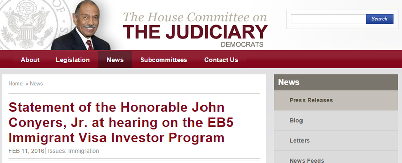 http://democrats.judiciary.house.gov/press-release/statement-honorable-john-conyers-jr-hearing-eb5-immigrant-visa-investor-program