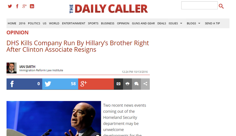 http://dailycaller.com/2016/10/13/dhs-kills-company-run-by-hillarys-brother-right-after-dhs-clinton-associate-resigns/