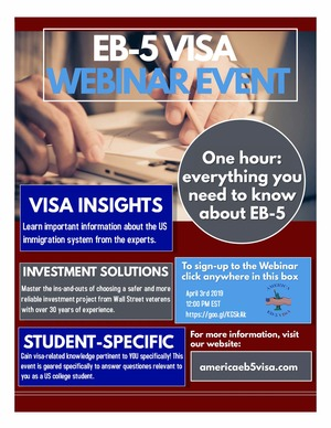 Webinar on EB-5 Visa Program for US College Students