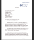 Jeh Johnson letter to Senators Grassley & Leahy
