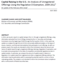 Capital Raising in the U.S.: An Analysis of Unregistered Offerings Using the Regulation D Exemption, 2009‐2012