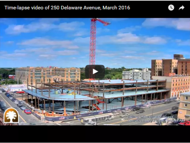 Time-lapse video of 250 Delaware Avenue, March 2016